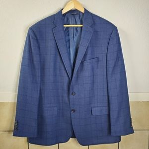 Ralph Ralph Lauren Blue plaid Wool blazer
